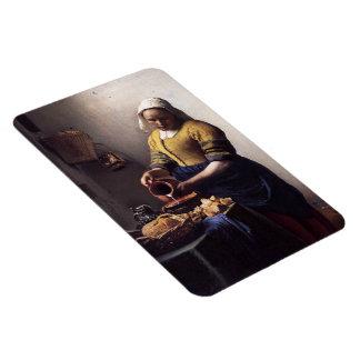 La lechera de Juan Vermeer Imán Rectangular