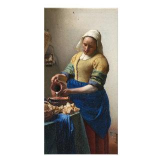La lechera de Juan Vermeer Tarjetas Con Fotos Personalizadas