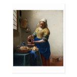 La lechera de Juan Vermeer Tarjetas Postales