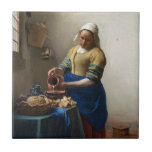 La lechera de Juan Vermeer Teja Cerámica