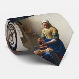 La lechera Juan Vermeer Corbatas Personalizadas