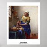 La lechera. Por Juan Vermeer Poster