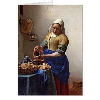 La lechera. Por Juan Vermeer Felicitacion