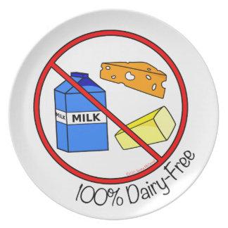La lechería 100% libera plato de comida