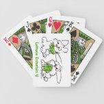La lechuga entretiene conejos de conejito del dibu baraja de cartas
