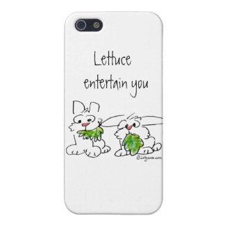 La lechuga entretiene conejos del dibujo animado iPhone 5 carcasa