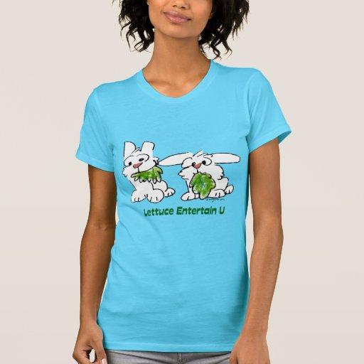 La lechuga entretiene conejos del dibujo animado camisetas