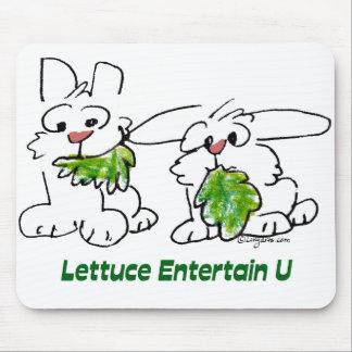 La lechuga entretiene conejos del dibujo animado tapetes de raton