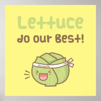 La lechuga linda hace nuestro mejor humor vegetal póster