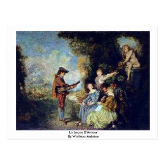La Leçon D'Amour By Watteau Antoine Postcard