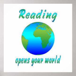 La LECTURA abre los mundos Posters