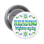 La lectura aclara mi día pin