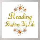 La lectura aclara mi vida impresiones