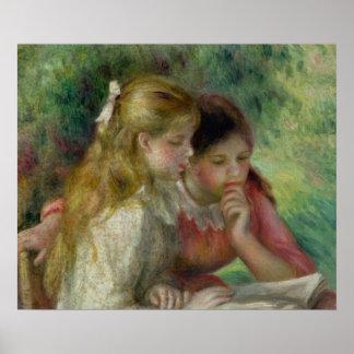 La lectura, c.1890-95 póster