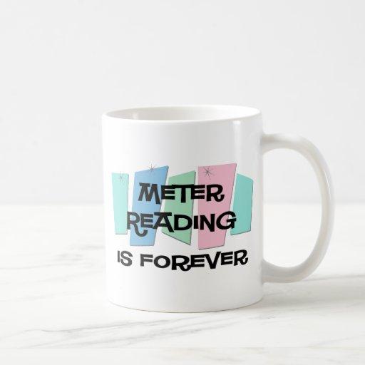 La lectura de contador es Forever Taza Básica Blanca