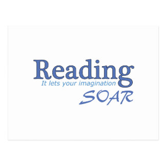 La lectura… de él deja su imaginación elevarse tarjeta postal