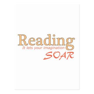 La lectura… de él deja su imaginación elevarse tarjetas postales