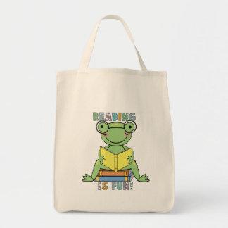 La lectura de la rana es camisetas y regalos de la bolsa