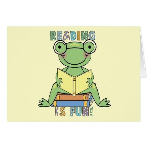 La lectura de la rana es camisetas y regalos de la tarjeta de felicitación