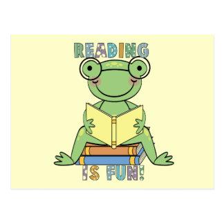 La lectura de la rana es camisetas y regalos de la postal
