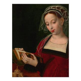 La lectura de Magdalen de Ambrosius Benson Membrete
