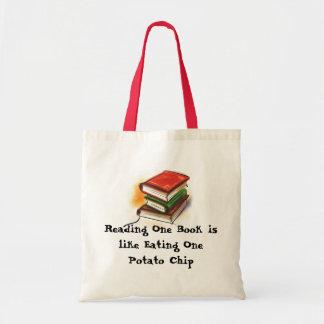 La lectura de un libro es como la consumición de u bolsa tela barata