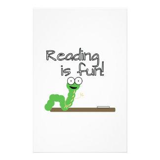 ¡La lectura es diversión! Personalized Stationery