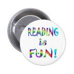 La lectura es diversión pin