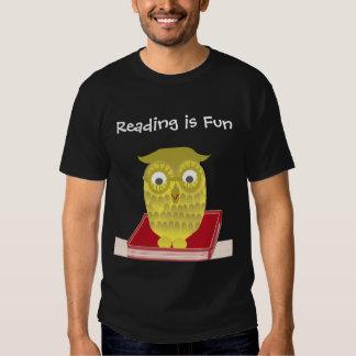la lectura es diversión remera