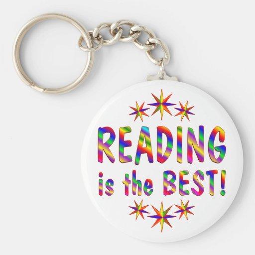 La lectura es el mejor llavero redondo tipo pin