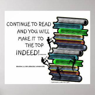 La lectura es el poster más grande de la aventura póster