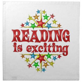 La lectura es emocionante servilleta imprimida