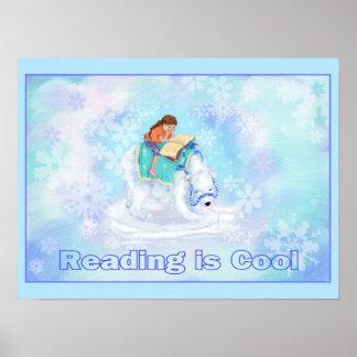 La lectura es fresca póster