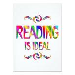 La lectura es ideal invitaciones personalizada