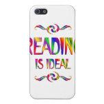 La lectura es ideal iPhone 5 fundas