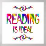 La lectura es ideal posters