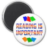 La lectura es importante imán para frigorifico
