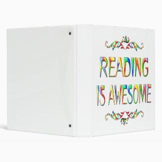 La lectura es impresionante