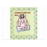 La lectura es lo que hago mejor postal