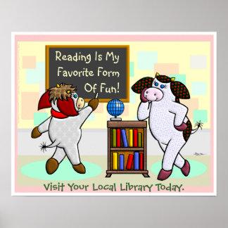 ¡La lectura es mi forma preferida de diversión! Póster