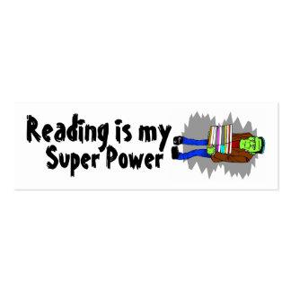 La lectura es mi mini Bookmarker del superpoder Tarjetas De Visita Mini