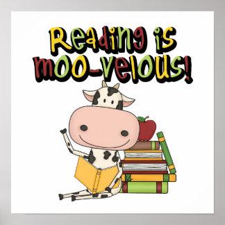 La lectura es MOO-velous Póster