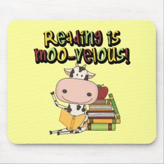 La lectura es MOO-velous Alfombrilla De Ratón