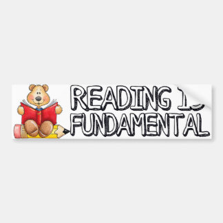 La lectura es pegatina para el parachoques fundame pegatina de parachoque