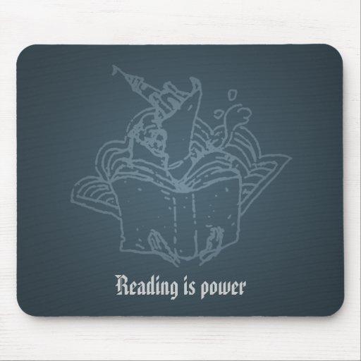 La lectura es poder alfombrillas de raton