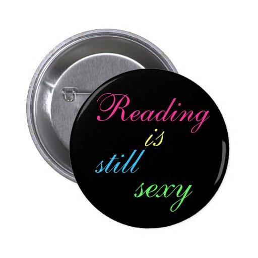 La lectura es todavía atractiva pin redondo 5 cm