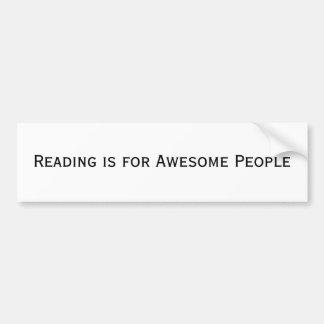 La lectura está para la pegatina para el parachoqu pegatina de parachoque