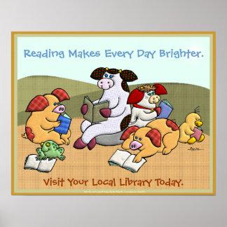 La lectura hace cada día más brillante poster