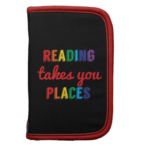 La lectura le toma lugares, ama el leer organizadores