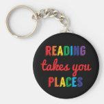 La lectura le toma lugares, ama el leer llaveros personalizados
